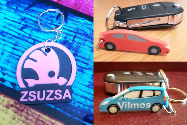 Custom car key rings - 3D printed