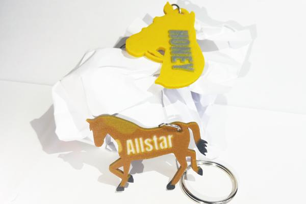 Egyedi lovas kulcstartók - 3D nyomtatott